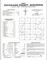 Index Map, Outagamie County 1981